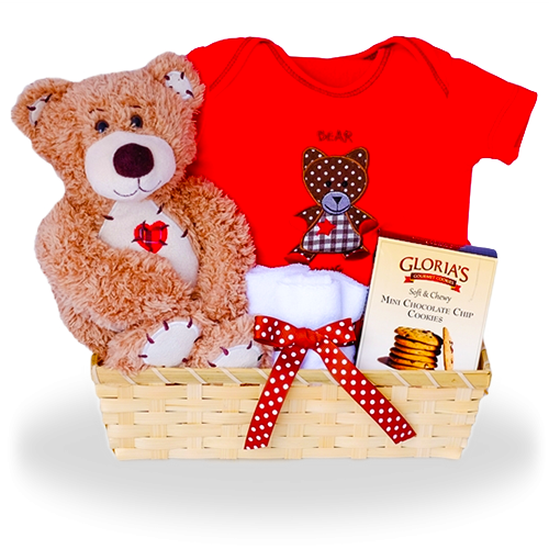 Hugs and Kisses for Your Baby Bear Gift Basket