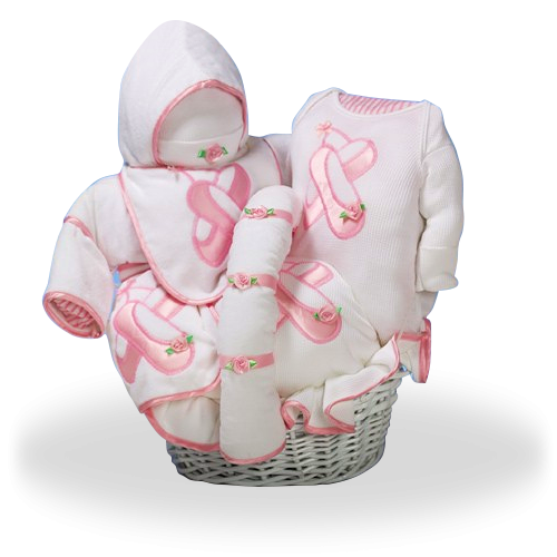 Elegant Baby Gift Set for a Future Ballerina Baby Girl