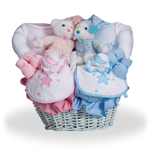 Anything You Wish For Twins Gift Basket
