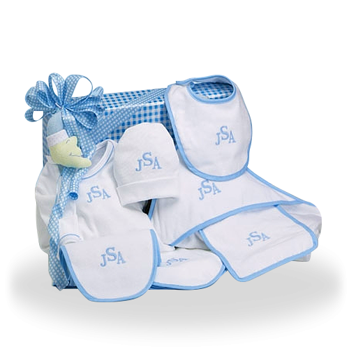 Personalized Cotton Only Baby Boy Gift Set