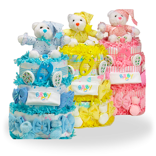 Triple Decker Delight Sweet Diaper Cake