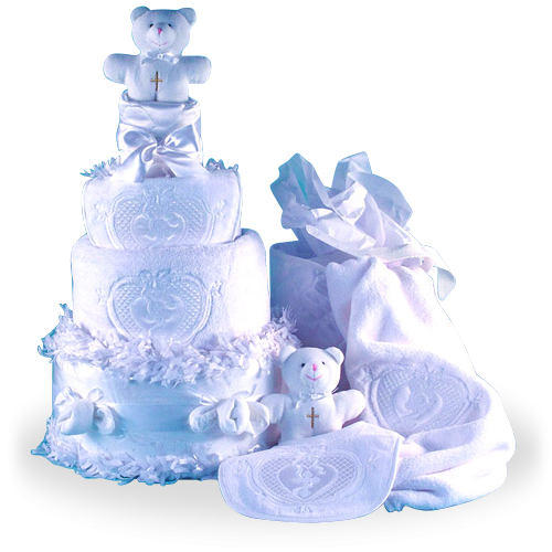 Baptism Diaper Cake for a Baby Christening