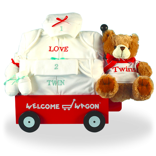 Welcome Wagon 100% Pure Cotton Gift Set for Twins