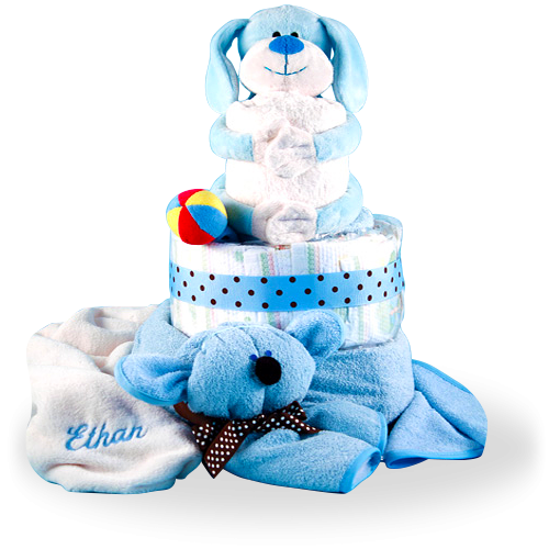 Puppy is the Best Friend for a Boy Diaper Cake