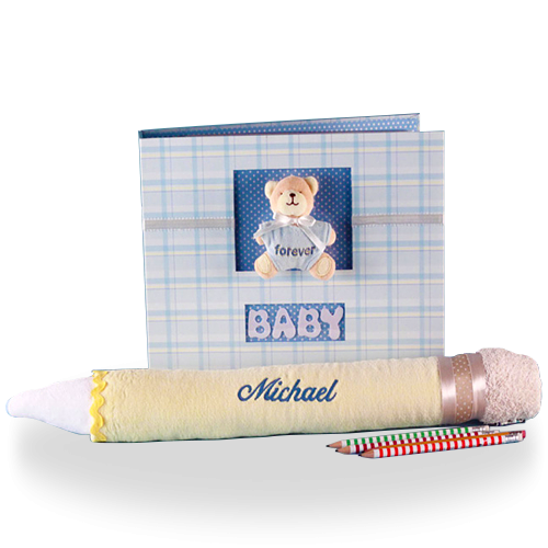 Write Down Your Memories Baby Boy Gift Set