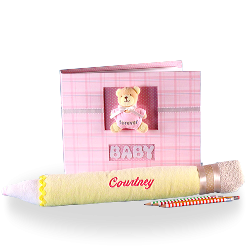 Write Down Your Memories Baby Girl Gift Set