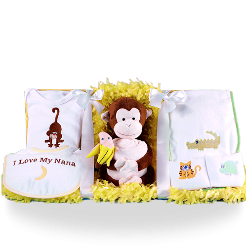 Jungle Baby Layette Gift Set