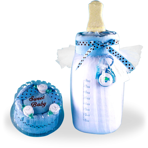 Soft Milk and Cake Baby Gift Set for Boy