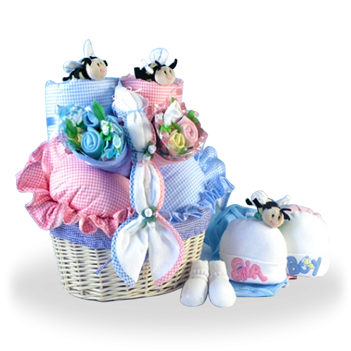Double Luck Gift Basket for Twins