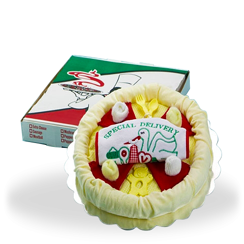 The Yummiest Pizza Delivery Baby Gift Set