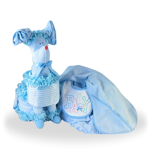 Surprise that Little Baby Boy Puppy Diaper Set