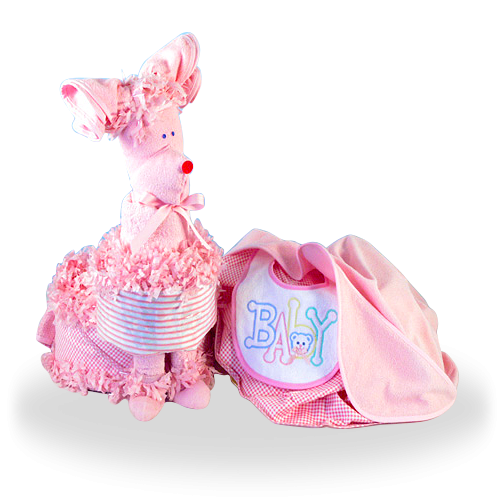 Surprise that Little Baby Girl Puppy Diaper Set