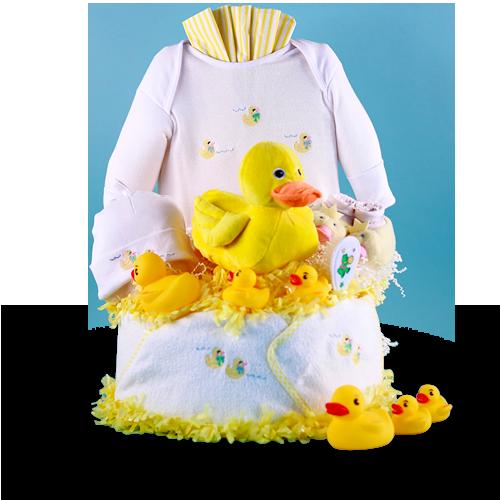 Hello, Ducky Diaper Cake Baby Gift Set