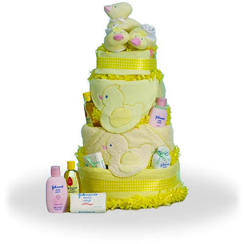 Cute Yellow Duck Diaper Cake Baby Shower Gift