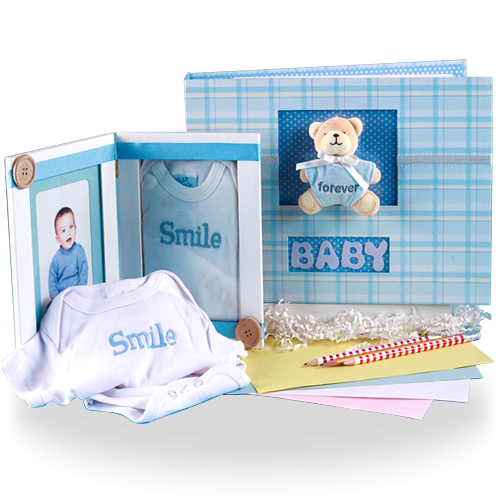 Keep Your Memories Safe Photo Album & Picture Frame Baby Boy Gift Set
