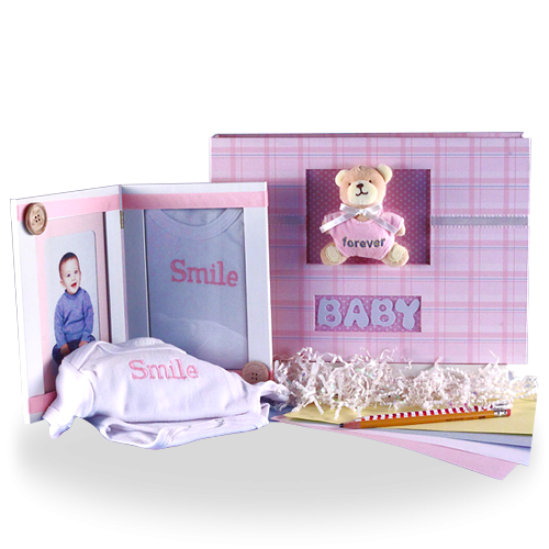 Keep Your Memories Safe Photo Album & Picture Frame Baby Girl Gift Set