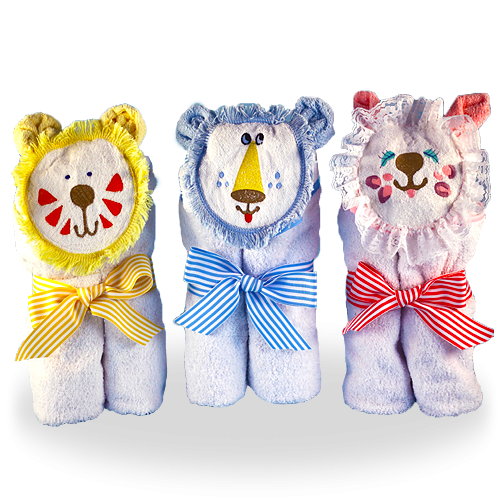 Soft Hooded Baby Towels - Cat, Lion, Tiger