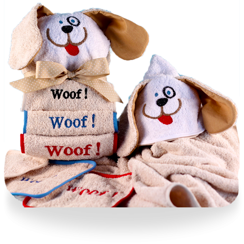 Hooded Puppy Towel Gift Set for Baby Personalized