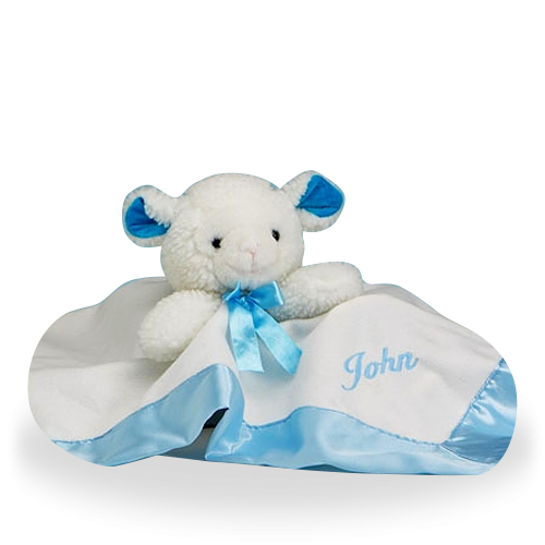 Lamby Nap Time Personalized Gift Set for Boy