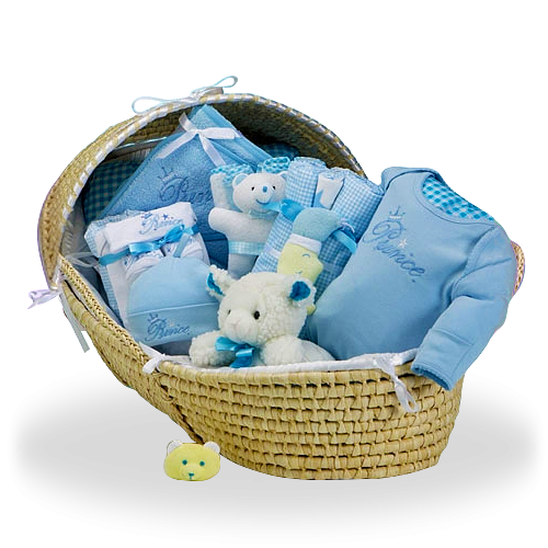 Everything Your Little Prince Needs Blue Deluxe Gift Basket for Boy