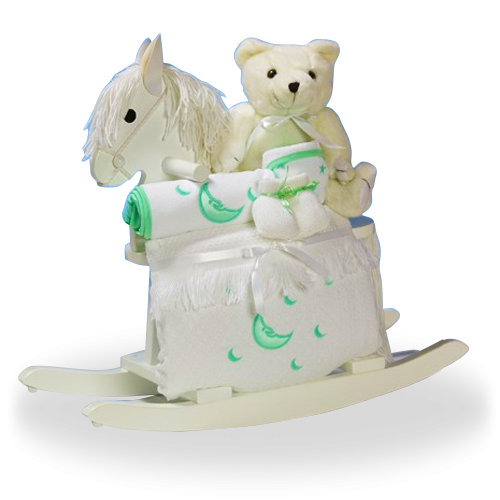Rocking Horse Baby Shower Gift Set For Delivery To Us