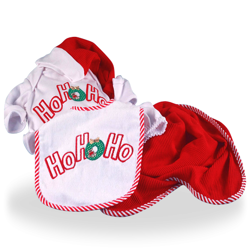 Ho! Ho! Ho! Christmas Time 4-Piece Gift Set for Baby