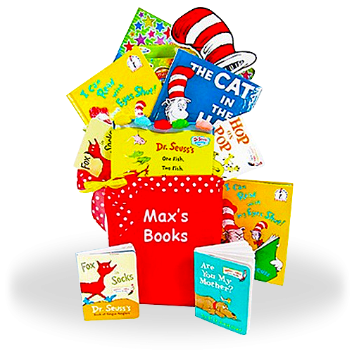 Dr. Seuss Books Gift Basket for Baby