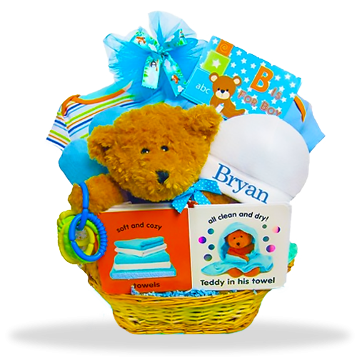 Baby Bear's Welcome Basket/Boy