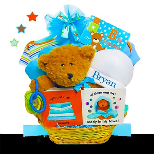Baby Bear's Welcome Basket/Boy