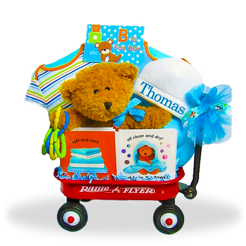 Mini Wagon Gift Basket for Boys