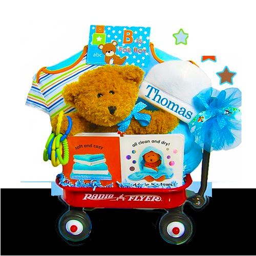 Mini Wagon Gift Basket for Boys