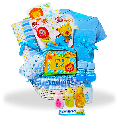 New Baby Boys Gift Basket Fun Safari