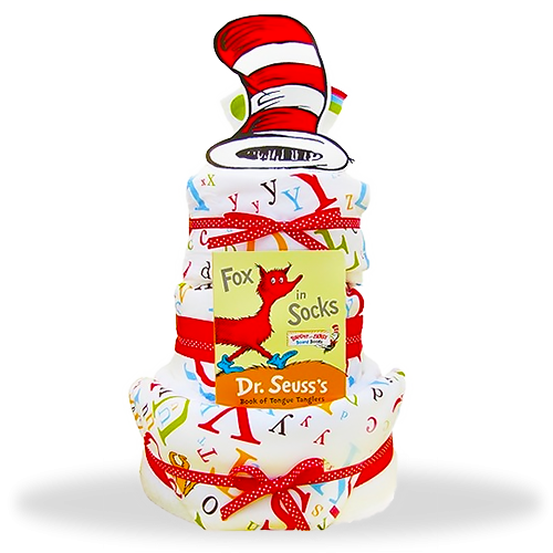 Seussical 3-Tiered Diaper Cake