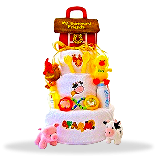 Barnyard Bliss 3-Tiered Diaper Cake Extravaganza!