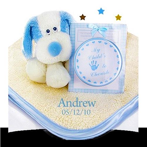 Personalized Fluffy Fattamano Keepsake Set for Boy
