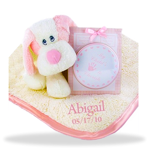 Personalized Fluffy Fattamano Keepsake Set for Girl