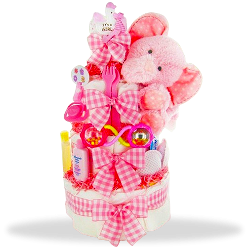 Pinkly Precious Diaper Cake