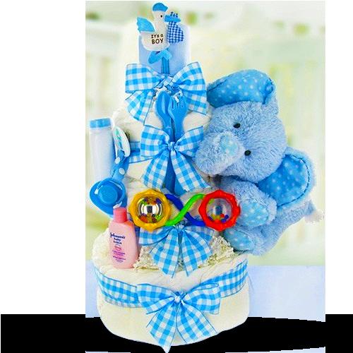 Dry Baby 3-Teir Diaper Cake Boy