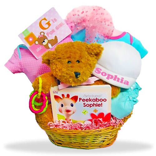 Baby Bear's Welcome Basket/Girl