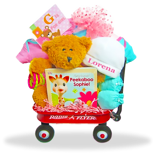 Just for Girls Gift basket mini Wagon