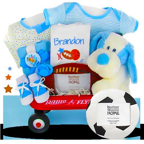The Boy mini Wagon Sport Personalized Gift Basket