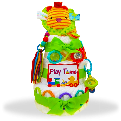 Bright Times Three-Tiered Diaper Cake