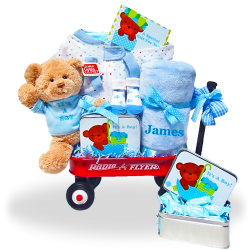The All-Boy Welcome Personalized  Basket Wagon