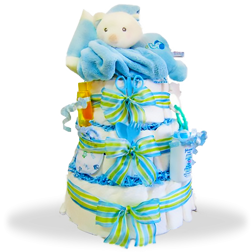 Sleepy Stack 3-Tiered Diaper Cake/ Boy