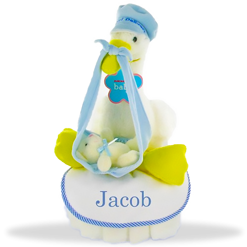 Stork Express One Tier DIaper Cake/Boy
