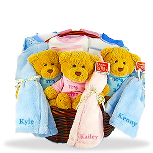 Many Blessing Multi-Birth Personalized Gift Basket