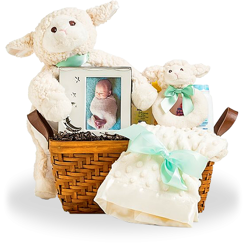 Nap Time with Lamb Baby Gift Basket