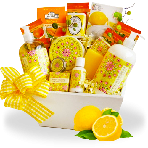 Lemon Spa Gift Basket