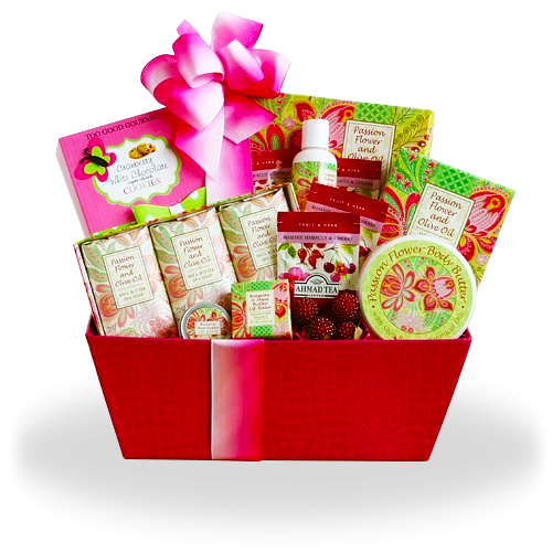 Passion Flower Spa Gift Basket of Joy