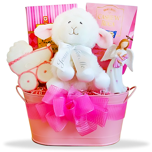 Naming Angels Girl's Christening Basket
